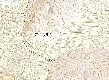 図7カール地形