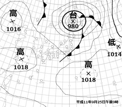 H11.9.25天気図