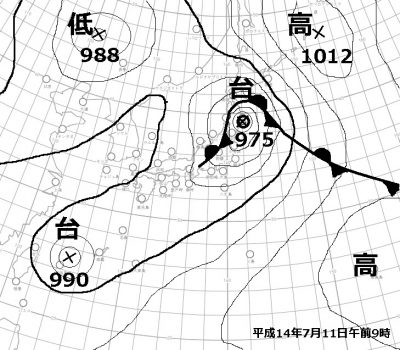 H14.7.11天気図