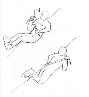 図5 滑落停止動作