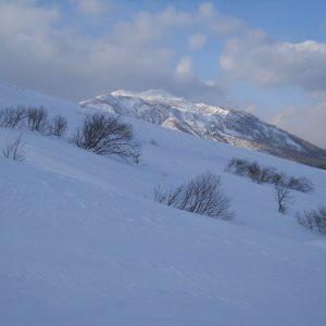冬登山の滑落停止